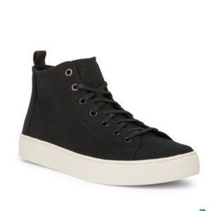 Men's TOMS Black Canvas High Sneaker Sz 11